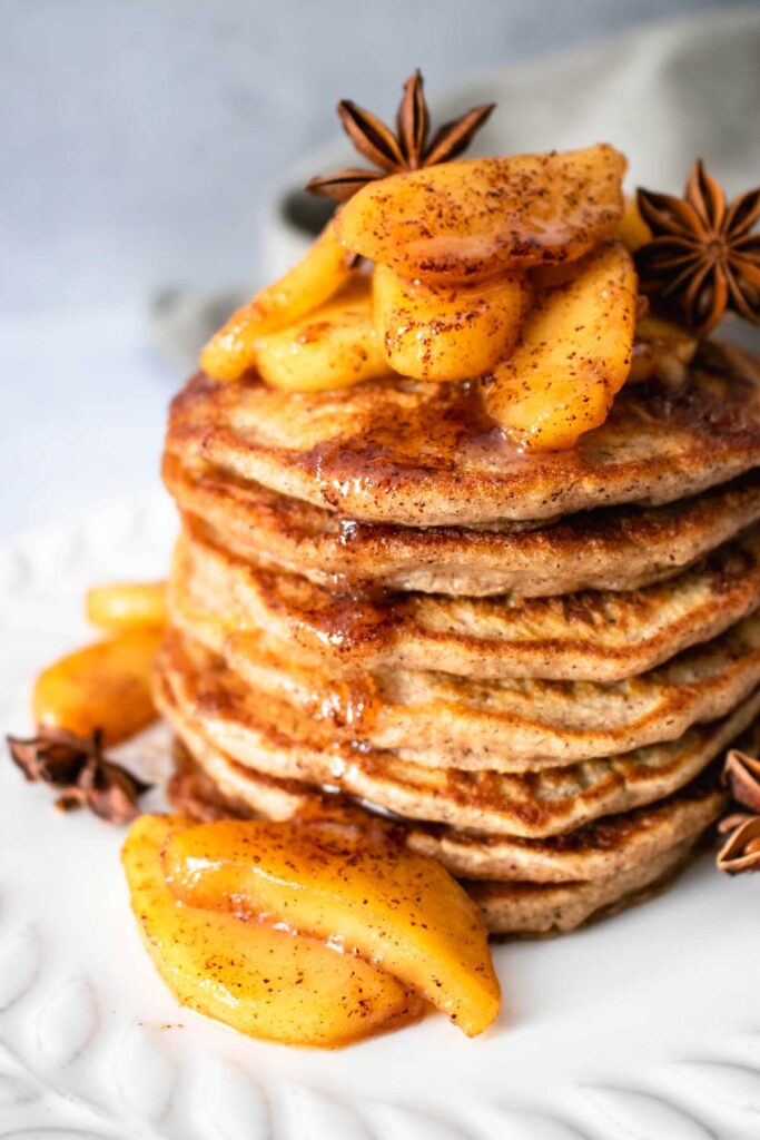 Apple Pancakes with Cinnamon Topping