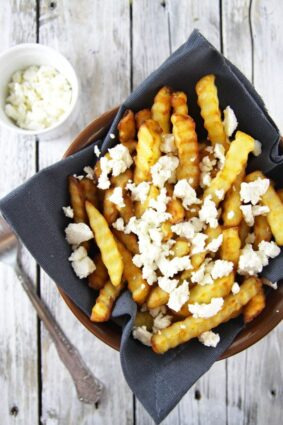 Fries With Feta Cheese
