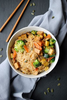 Super Easy Chinese Noodles With Tofu